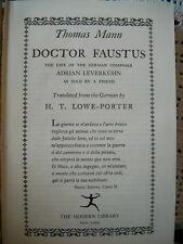 Doctor Faustus (Thomas Mann, 1948 HC) Modern Library