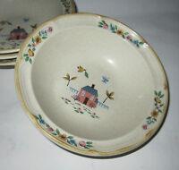 Heartland International Stoneware 4 Cereal Bowls