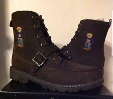 Kids Polo Ralph Lauren Ranger Hi Sweater Bear Boots Chocolate Brown Size size 11