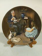 "knowles collector plates norman rockwell ""The Storyteller�"