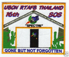USAF BASE PATCH, UBON RTAFB THAILAND, 16TH SOS,SPECTRE, GONE BUT NOT FORGOTTEN Y