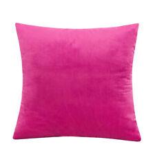 """16"""" 18"""" 20"""" 22"""" 24"""" Velvet Plain Cushion Cover Pillow Case Home Sofa Decor UK"""