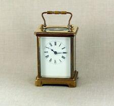 8 Days Französische Offizier Reiseuhr Uhr Tischuhr Carriage Clock Messing France