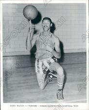 1963 Harlem Globe Trotters Basketball Forward Bobby Milton Press Photo