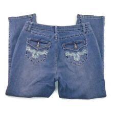 Roz & Ali Rhinestone Cropped Jeans 10 Crop Jean