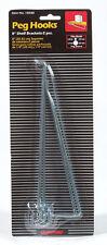 Crawford  Zinc Plated  Silver  Steel  8 in. Peg Hook Shelf Bracket  2 pk