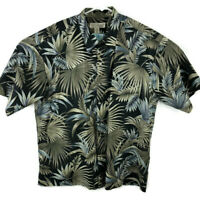 Tori Richard Mens XL Green Floral Hawaiian Button Down Shirt