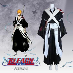 Customize BLEACH Kurosaki ichigo Cosplay Mens Halloween Cosplay Costume Outfit