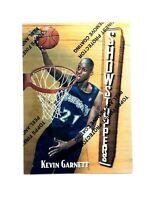 KEVIN GARNETT RARE 1997-98 TOPPS FINEST SHOWSTOPPERS GOLD BASKETBALL CARD #319