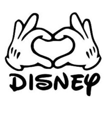 Disney love hands decal sticker sticker truck tablet cell phone