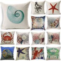 throw Pillow Cover Beach Ocean Seaside Coastal Pillowcase Home Decor Decorative