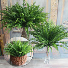 7 Branches Green Artificial Plant Floral Persian Leaf Flower Office Home Garden