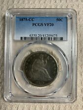 1875CC Seated Liberty Half Dollar  PCGS VF20  (ESTATE SALE ITEM)