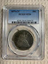 1875CC Seated Liberty Half Dollar  PCGS VF20  (ESTATE SALE ITEM)