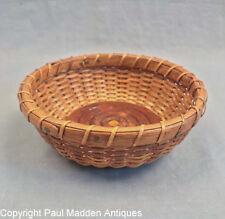 """Vintage 5"""" Nantucket Lightship Sewing Basket by Irving Burnside"""