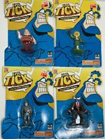 Lot Of 4 The Tick Collectible Figures Bandai Vintage 90s 1994 Evil Good Doers