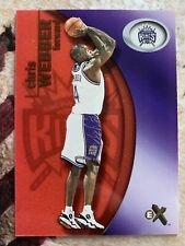 "CHRIS WEBBER 2000-01 FLEER E-X ""ESSENTIAL CREDENTIALS NOW"" #: 111/201"