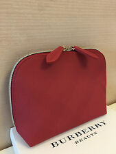 43f3a5152456 Burberry Beauty Red Medium Cosmetic Makeup Bag Pouch Clutch Brand New no Box