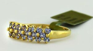 GENUINE TANZANITE RING 14K Yellow Gold * NEW WITH TAG * Size - 8