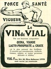 Publicité ancienne médicament le vin de Vial 1915 issue de magazine