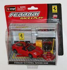Burago - FERRARI SCUDERIA SPIDER 16M - 'Race & Play' Model Scale 1:43