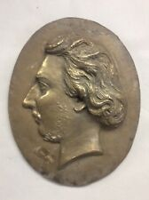 """Oval 19th Century Plaque Of A Man 14"""""""