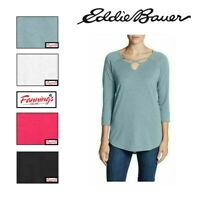 SALE! Eddie Bauer Ladies' ¾ Sleeve Cross-Front Tunic Shirt VARIETY SZ/CLR - F42