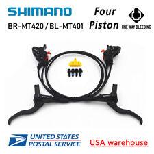 Nuevo Shimano 4-Piston BR-MT420 BL-MT401 Hidráulico Freno de Disco F&r MTB (OE )