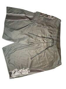 Quicksilver Mens Board Shorts Charcol Black Checkered Pattern