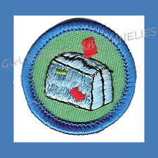 ON MY WAY Junior Girl Scout Worlds-Explore Badge NEW Patch Suitcase Multi=1 Ship