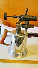 Vintage Clayton & Lambert MFG Co. Chrome Brass Gasoline Blow Torch