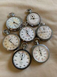 Lot Of Assorted Estate Vintage Stop Watches Gallet, Wakmann, Meylan!! NR