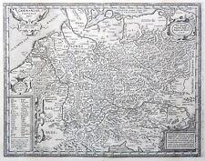 1624 ORTELIUS Original Antique Map of ANCIENT GERMANY -Latin Names Baltic Europe