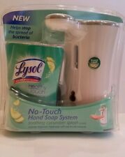 NEW Lysol Healthy No Touch Hand Soap System Cleansing Soothing Cucumber Splash