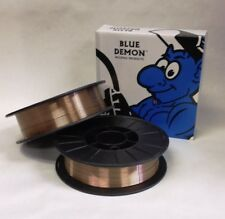ER70S-6 X .030 X 11 lb Spool Blue Demon steel welding wire 2 PACK HIGH QUALITY