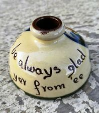 More details for longpark torquay motto ware - pottery inkwell