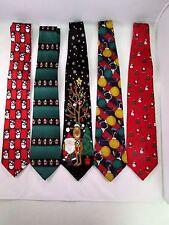 Mens Christmas Themed Ties (Lot of 5)