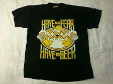 """The Simpsons Homer """"Have no feer Have a beer"""" T-Shirt Large Size"""