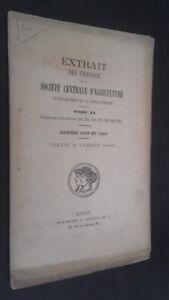 Extracto Las Trabajo Ste Centrale Agricultura Tomo XL 1898-1899 Rombos ABE