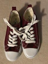 Women's Rue21 etc! love Size L 8/9 Blue Maroon Lace Up Sneaker Shoes