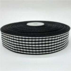 5yards Plaid Ribbon Grid For Home Wedding Christmas Decoration DIY Gift Wrapping