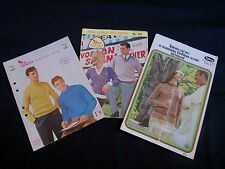 Three Vintage Knitting Books, Patterns, Patons 448, 602, 891 - 1950s, 1960s, #29
