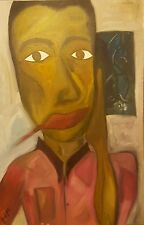 """Original Oil on Canvas Painting 36 1/8"""" x 23 7/8"""" created in early 2000  $500.00"""