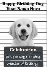 Golden Retriever  A5 Personalised Greeting Card Happy Birthday PIDGOL1