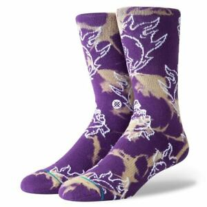 "Stance ""Scream"" Classic Crew Socks (Purple) Men's Graphic Print Sock"