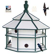 8 Room Purple Martin Birdhouse 2 Story Insect Pest Control Bird House Condo Usa