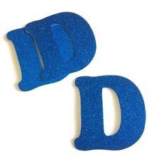 12pcs FOAM STICKER LETTER D BLUE GLITTER 4 INCHES CRAFT SCRAPBOOK