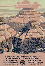 VINTAGE GRAND CANYON AMERICA US TRAVEL A4 POSTER PRINT