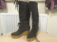 ROCKPORT CEDRA SCRUCHED TALL BROWNIE BOOTS UK 5