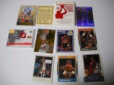 9 CARD BASKETBALL LOT - UNIFORM CARD -  23 KARAT GOLD CARD OF MICHAEL JORDAN